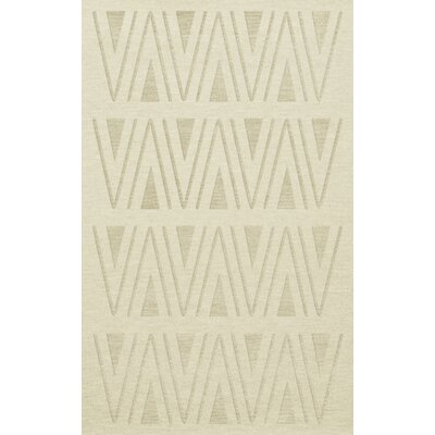 Bella Machine Woven Wool White Area Rug Rug Size: Rectangle 3 x 5