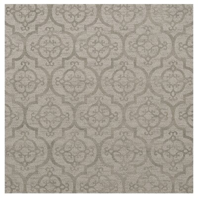 Bella Machine Woven Wool Silver Area Rug Rug Size: Square 4'