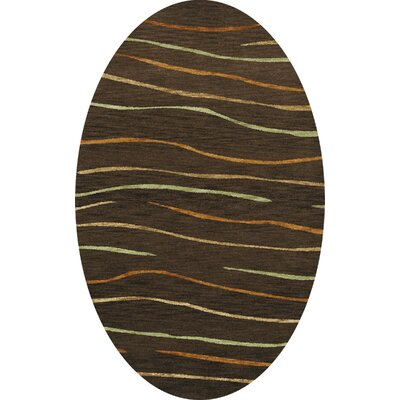 Bella Brown Area Rug Rug Size: Oval 12' x 18'