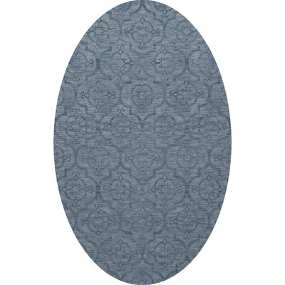 Bella Machine Woven Wool Blue Area Rug Rug Size: Oval 9 x 12