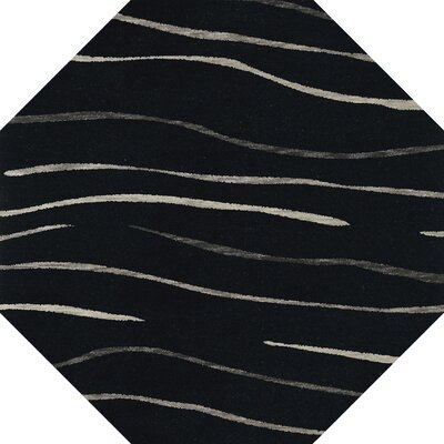 Bella Black Area Rug Rug Size: Octagon 4