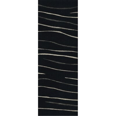 Bella Black Area Rug Rug Size: Runner 26 x 10