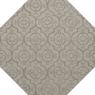 Bella Machine Woven Wool Silver Area Rug Rug Size: Octagon 6