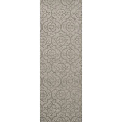 Bella Machine Woven Wool Silver Area Rug Rug Size: Runner 26 x 8