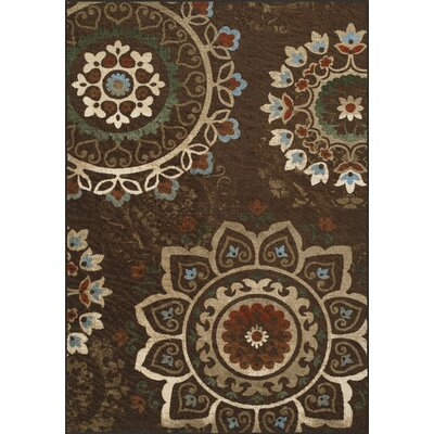 Horizons Brown Area Rug Rug Size: Rectangle 411 x 74