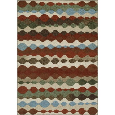 Horizons Red/Gray Area Rug Rug Size: 411 x 74