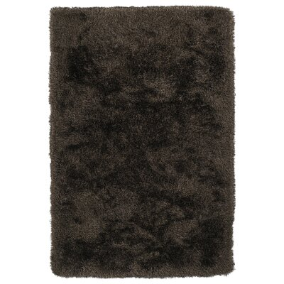 Impact Hand-Tufted Brown Area Rug Rug Size: 36 x 56