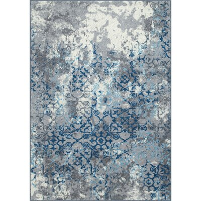 Horizons Gray/Blue Area Rug Rug Size: Rectangle 411 x 74