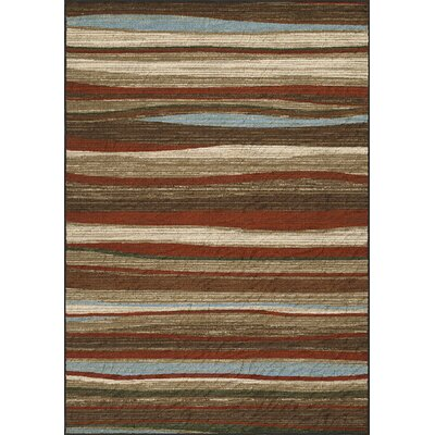 Horizons Brown/Red Area Rug Rug Size: Rectangle 82 x 10