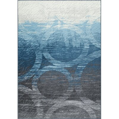 Horizons Blue/Gray Area Rug Rug Size: Rectangle 411 x 74