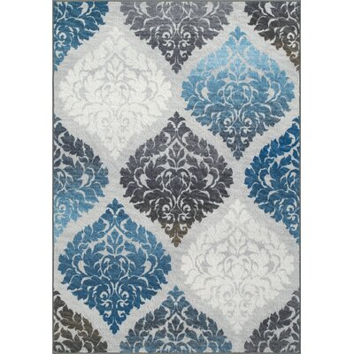 Horizons Gray/Blue Area Rug Rug Size: Rectangle 82 x 10