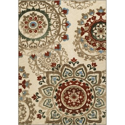 Horizons Beige/Red Area Rug Rug Size: Rectangle 33 x 5
