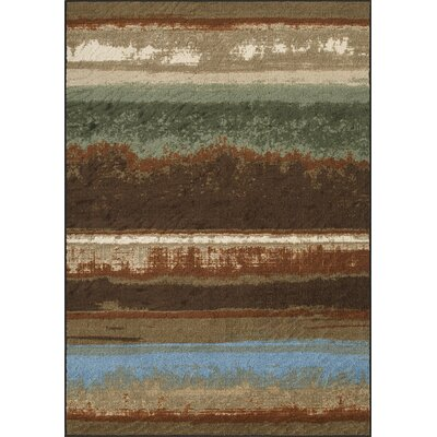 Horizons Brown Area Rug Rug Size: 411 x 74