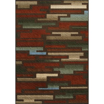 Horizons Red/Brown Area Rug Rug Size: Rectangle 411 x 74