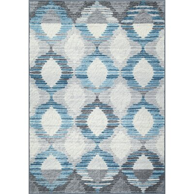 Horizons Blue Area Rug Rug Size: Rectangle 411 x 74