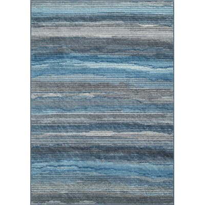 Horizons Blue/Gray Area Rug Rug Size: Rectangle 82 x 10