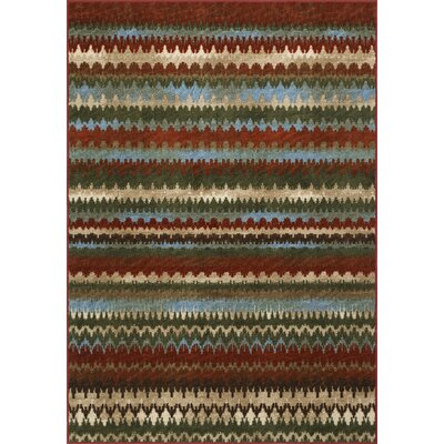 Horizons Red Area Rug Rug Size: Rectangle 82 x 10