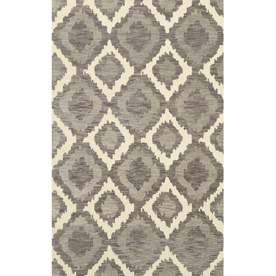 Bella Machine Woven Wool Gray Area Rug Rug Size: Square 6