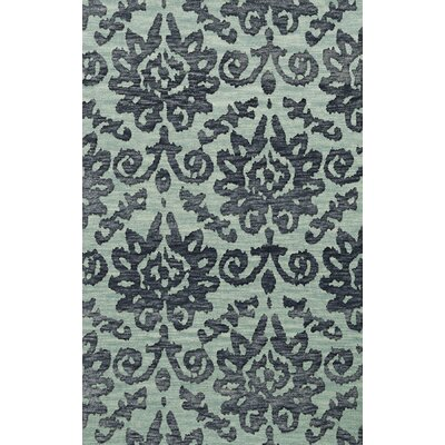 Bella Machine Woven Wool Blue Area Rug Rug Size: Round 4'