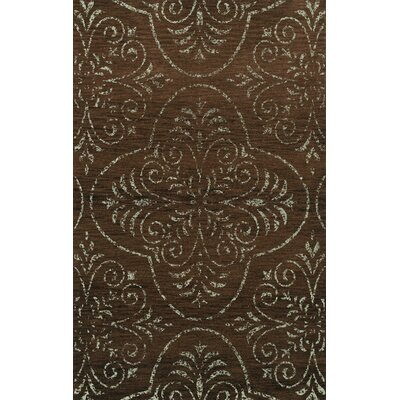 Elkton Brown Area Rug Rug Size: Oval 5 x 8