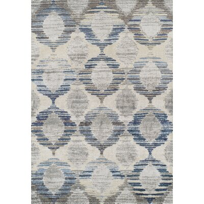 Moni Blue/Gray Area Rug Rug Size: Rectangle 33 x 53