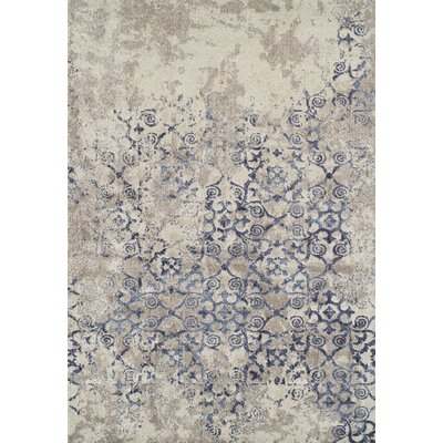 DeLorin Gray Area Rug Rug Size: Rectangle 53 x 77