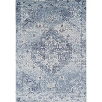 Bevin Blue Area Rug Rug Size: Rectangle 53 x 77