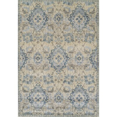 Bartlet Gray/Blue Area Rug Rug Size: Rectangle 53 x 77
