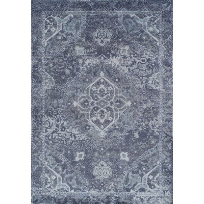 Bevin Navy Blue Area Rug Rug Size: Rectangle 96 x 132