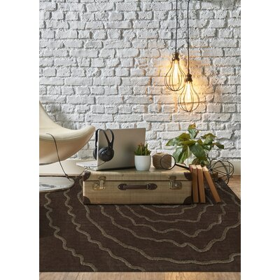 Dakota Chocolate Area Rug Rug Size: Rectangle 36 x 56