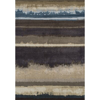 Antigua Chocolate Area Rug Rug Size: 53 x 77