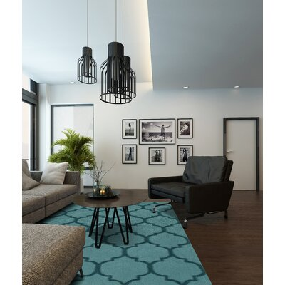 Nadja Teal Area Rug Rug Size: Rectangle 36 x 56