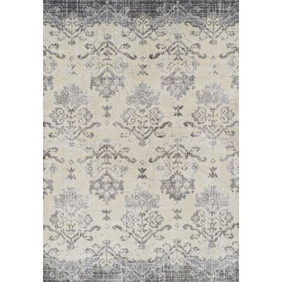 Antigua Pewter/Gray Area Rug Rug Size: 53 x 77