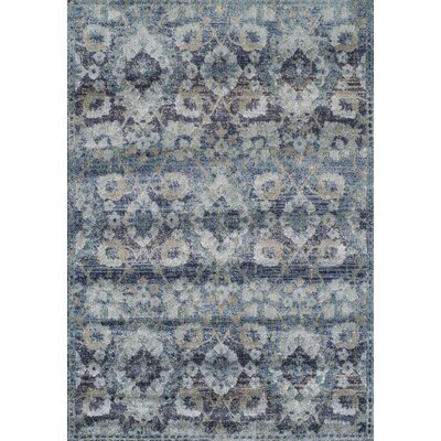 Bartlet Navy Blue Area Rug Rug Size: 33 x 53