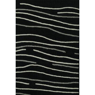 Dakota Black Area Rug Rug Size: 36 x 56