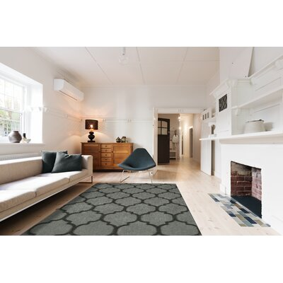 Nadja Gray Area Rug Rug Size: Rectangle 9 x 13