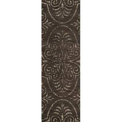Quaniece Brown Area Rug Rug Size: Oval 4' x 6'