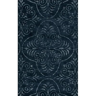 Bridge Blue Area Rug Rug Size: Oval 10 x 14