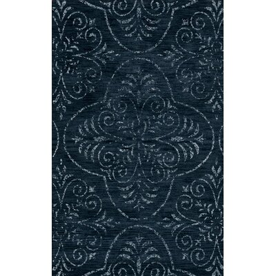 Bridge Blue Area Rug Rug Size: Oval 3 x 5