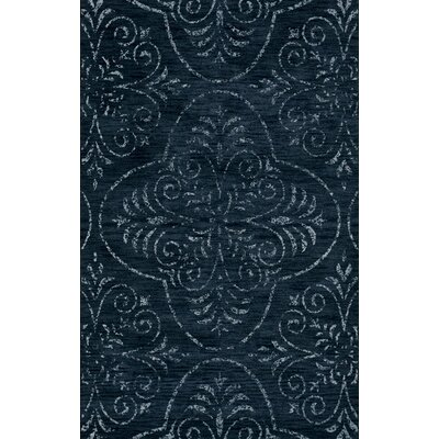 Bridge Blue Area Rug Rug Size: Round 10