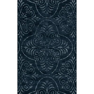 Bridge Blue Area Rug Rug Size: Oval 12 x 18
