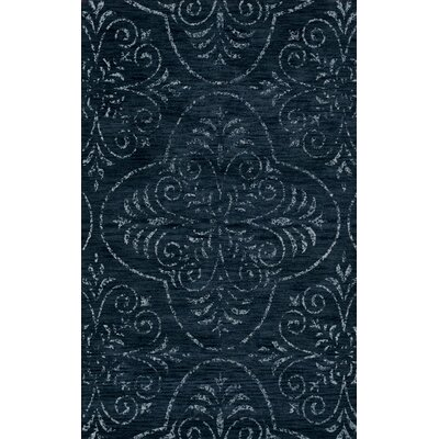 Bridge Blue Area Rug Rug Size: Oval 5 x 8