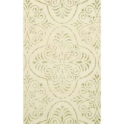Bridge Beige Area Rug Rug Size: Oval 5 x 8