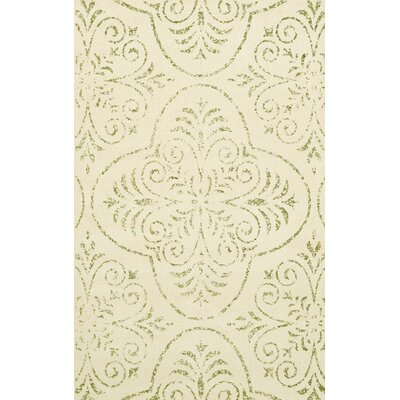 Bridge Beige Area Rug Rug Size: Oval 12 x 18