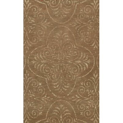 Bridge Brown Area Rug Rug Size: Oval 10 x 14