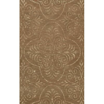 Bridge Brown Area Rug Rug Size: Oval 5 x 8