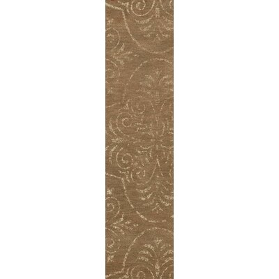 Bridge Brown Area Rug Rug Size: Runner 26 x 8