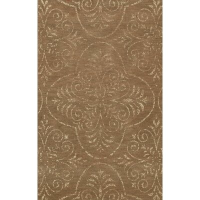 Bridge Brown Area Rug Rug Size: Oval 6 x 9