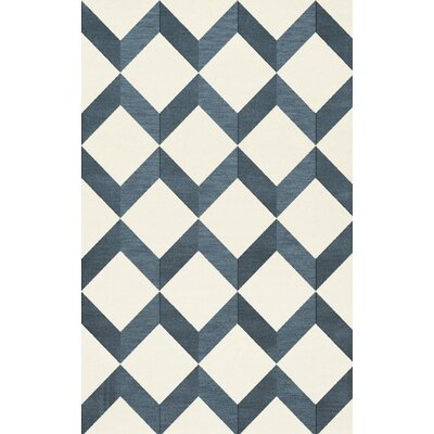 Bella Blue/White Area Rug Rug Size: Rectangle 12 x 15
