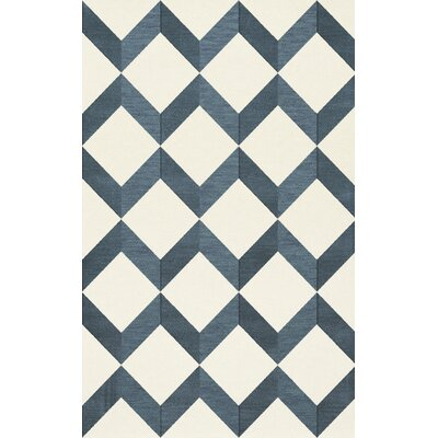 Bella Blue/White Area Rug Rug Size: Rectangle 5 x 8